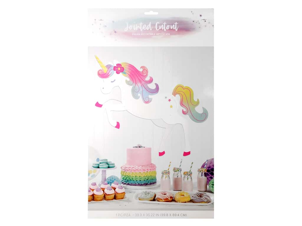 Amscan Collection Enchanted Unicorn Jointed Cutout