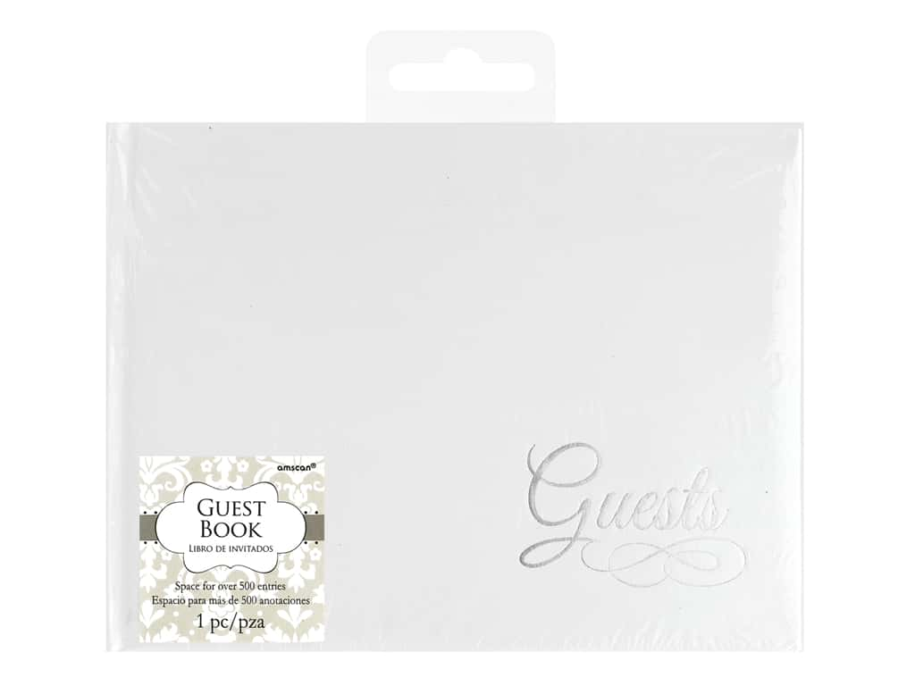 Amscan Collection Bridal Guest Book White With Silver Detail