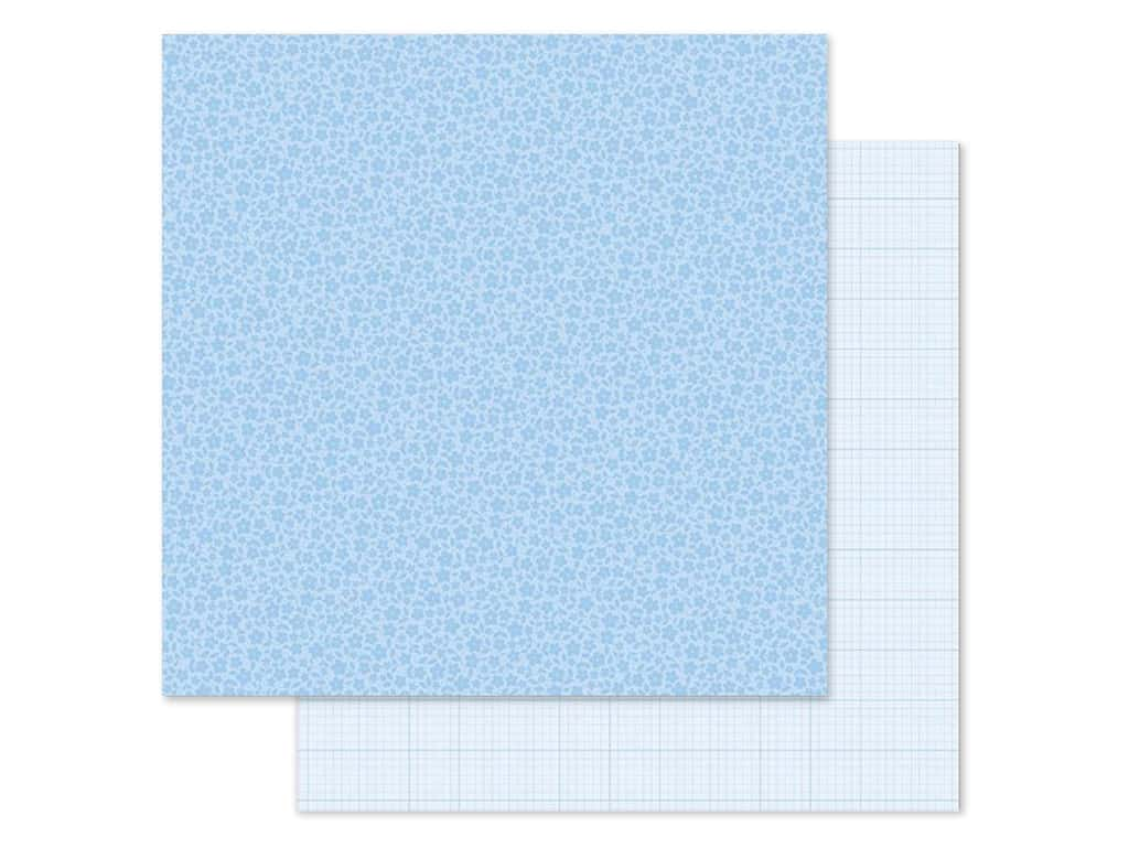 Doodlebug Collection Petite Prints Paper 12 in. x 12 in. Floral/Graph Bubble Blue (25 pieces)