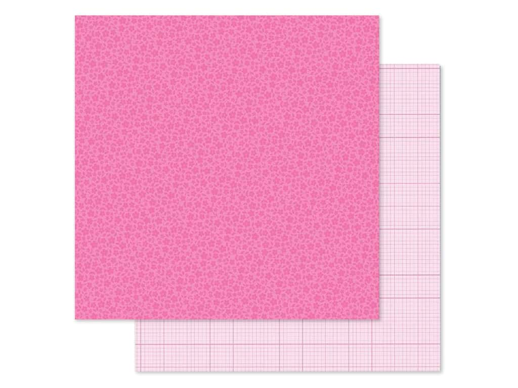 Doodlebug Collection Petite Prints Paper 12 in. x 12 in. Floral/Graph Bubblegum (25 pieces)