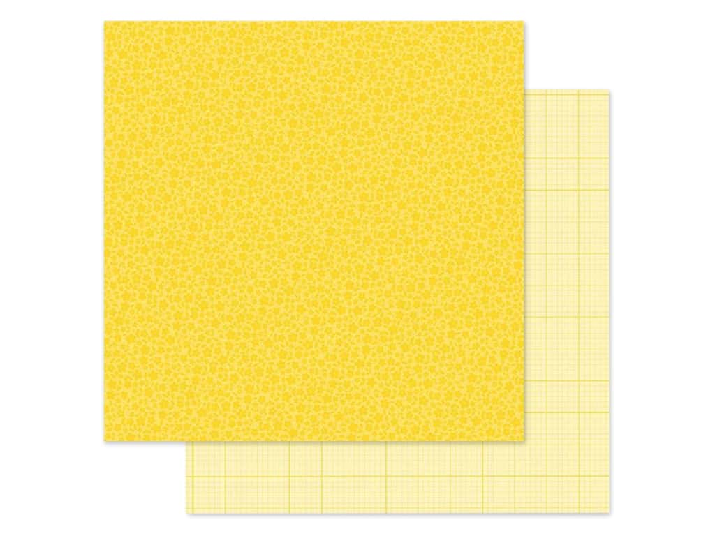 Doodlebug Collection Petite Prints Paper 12 in. x 12 in. Floral/Graph Bumblebee (25 pieces)