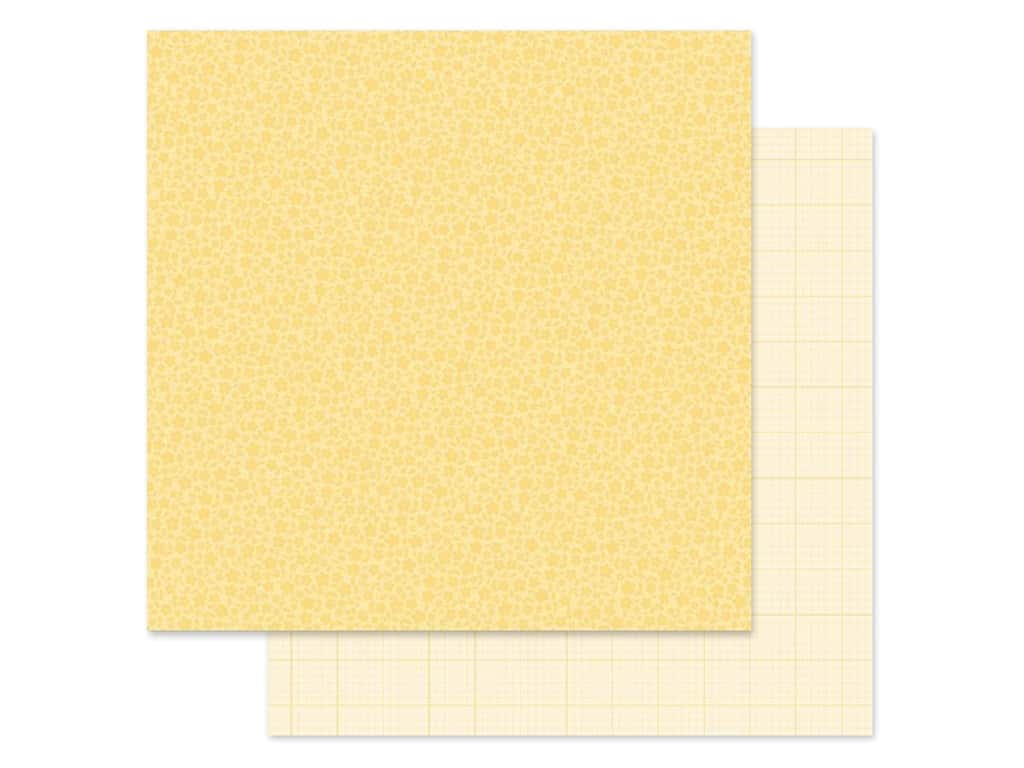 Doodlebug Collection Petite Prints Paper 12 in. x 12 in. Floral/Graph Lemon (25 pieces)