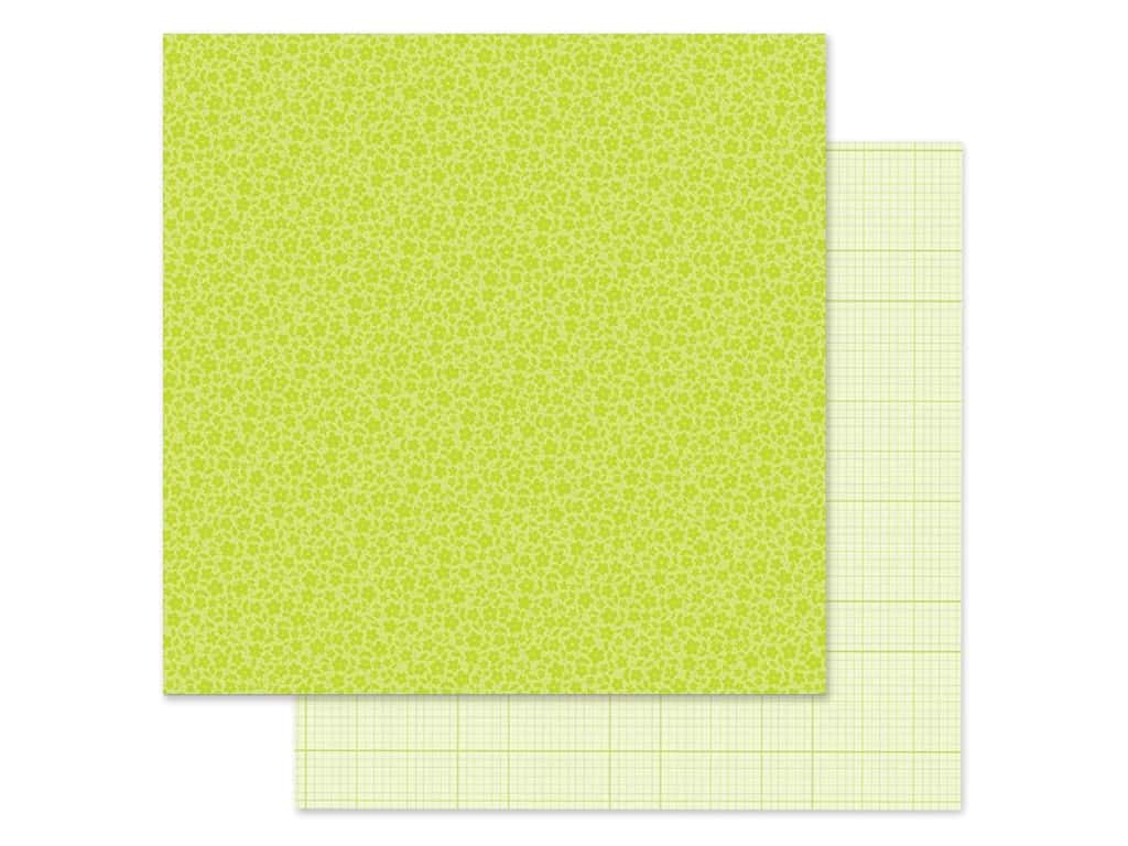 Doodlebug Collection Petite Prints Paper 12 in. x 12 in. Floral/Graph Citrus (25 pieces)