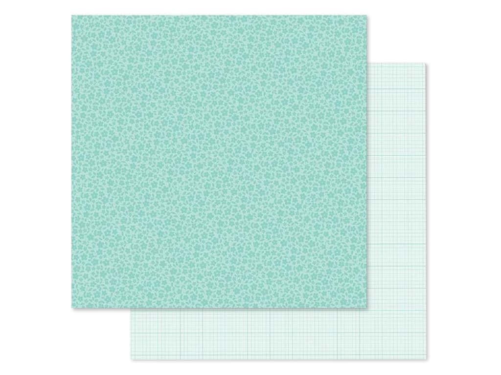 Doodlebug Collection Petite Prints Paper 12 in. x 12 in. Floral/Graph Pistachio (25 pieces)