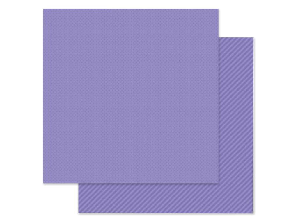 Doodlebug Collection Petite Prints Paper 12 in. x 12 in. Dot/Stripe Lilac (25 pieces)