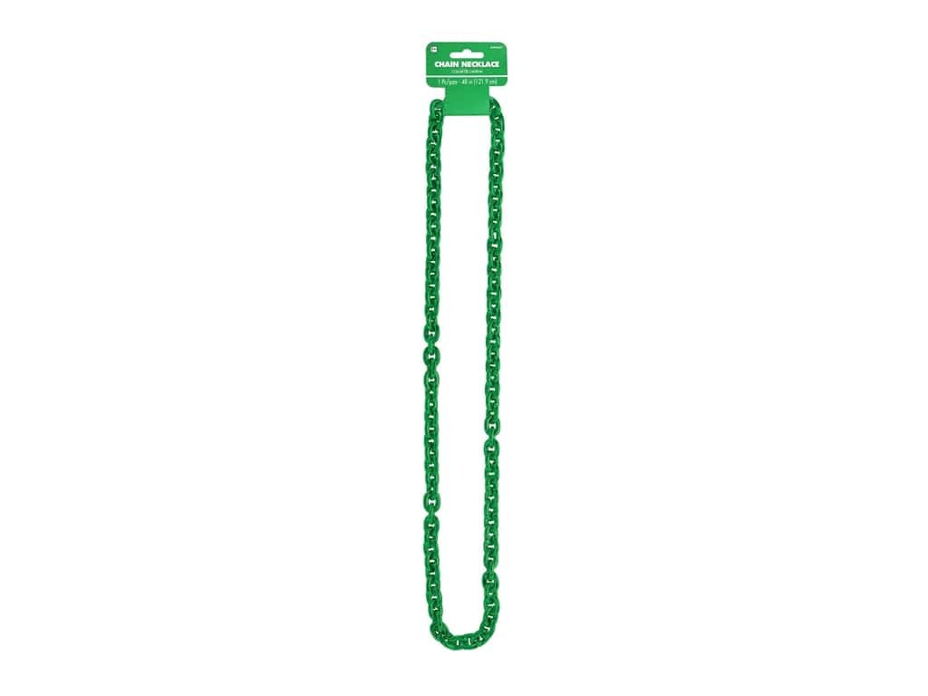 Amscan Necklace Chain Link Green