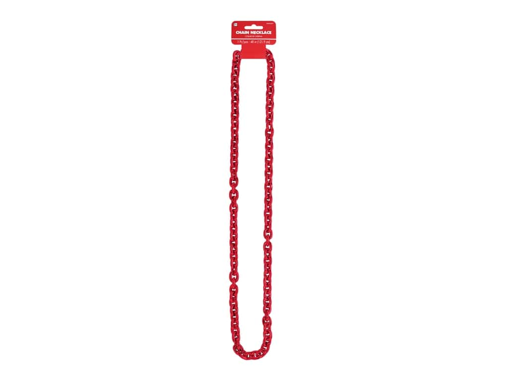 Amscan Necklace Chain Link Red