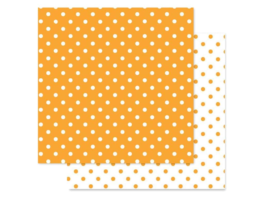 Doodlebug Paper 12 in. x 12 in. Swiss Dot Petite Tangerine (25 pieces)