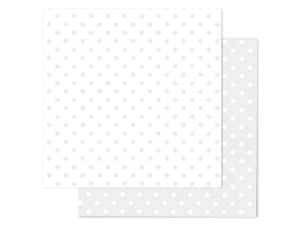 Doodlebug Paper 12 in. x 12 in. Swiss Dot Petite Lily White (25 pieces)