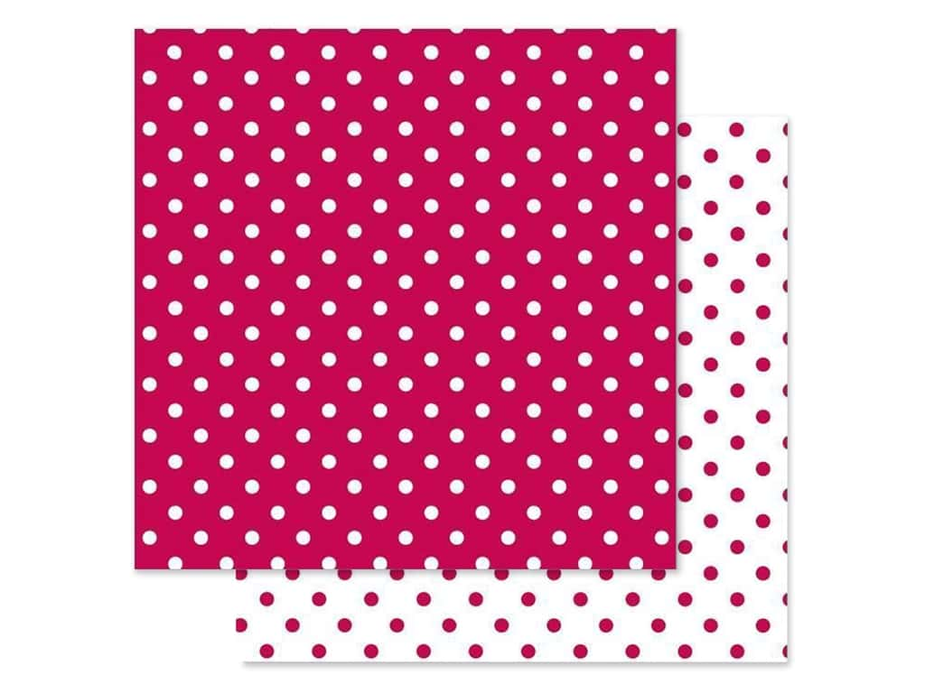 Doodlebug Paper 12 in. x 12 in. Swiss Dot Petite Ruby (25 pieces)