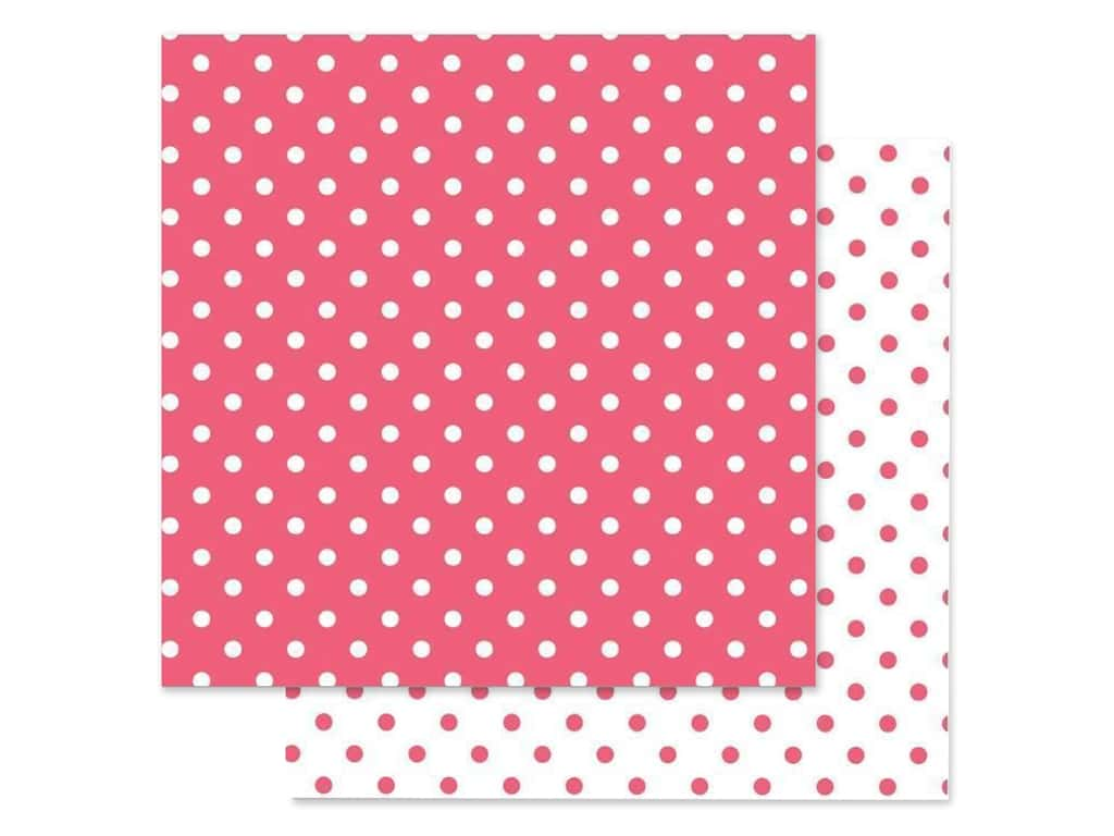 Doodlebug Paper 12 in. x 12 in. Swiss Dot Petite Cherry (25 pieces)