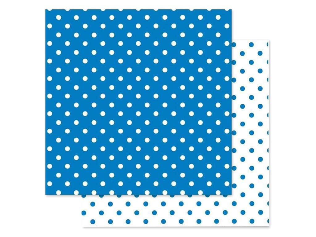 Doodlebug Paper 12 in. x 12 in. Swiss Dot Petite Blue Jean (25 pieces)