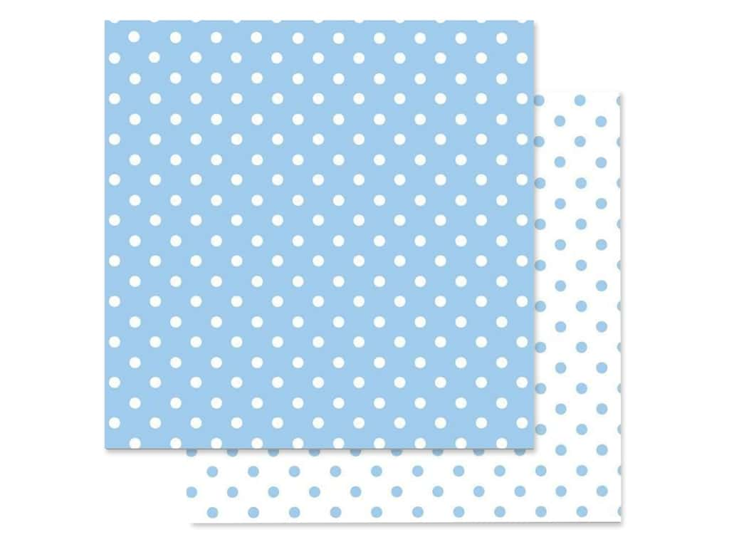 Doodlebug Paper 12 in. x 12 in. Swiss Dot Petite Bubble Blue (25 pieces)