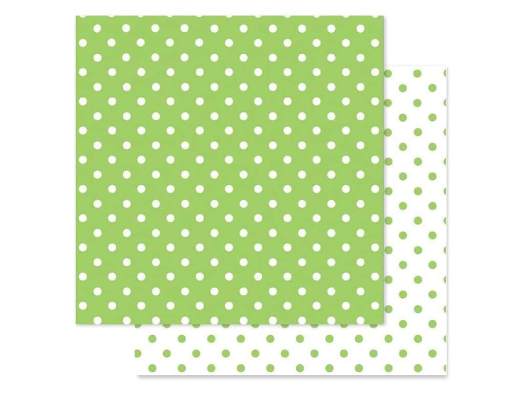 Doodlebug Paper 12 in. x 12 in. Swiss Dot Petite Limeade (25 pieces)