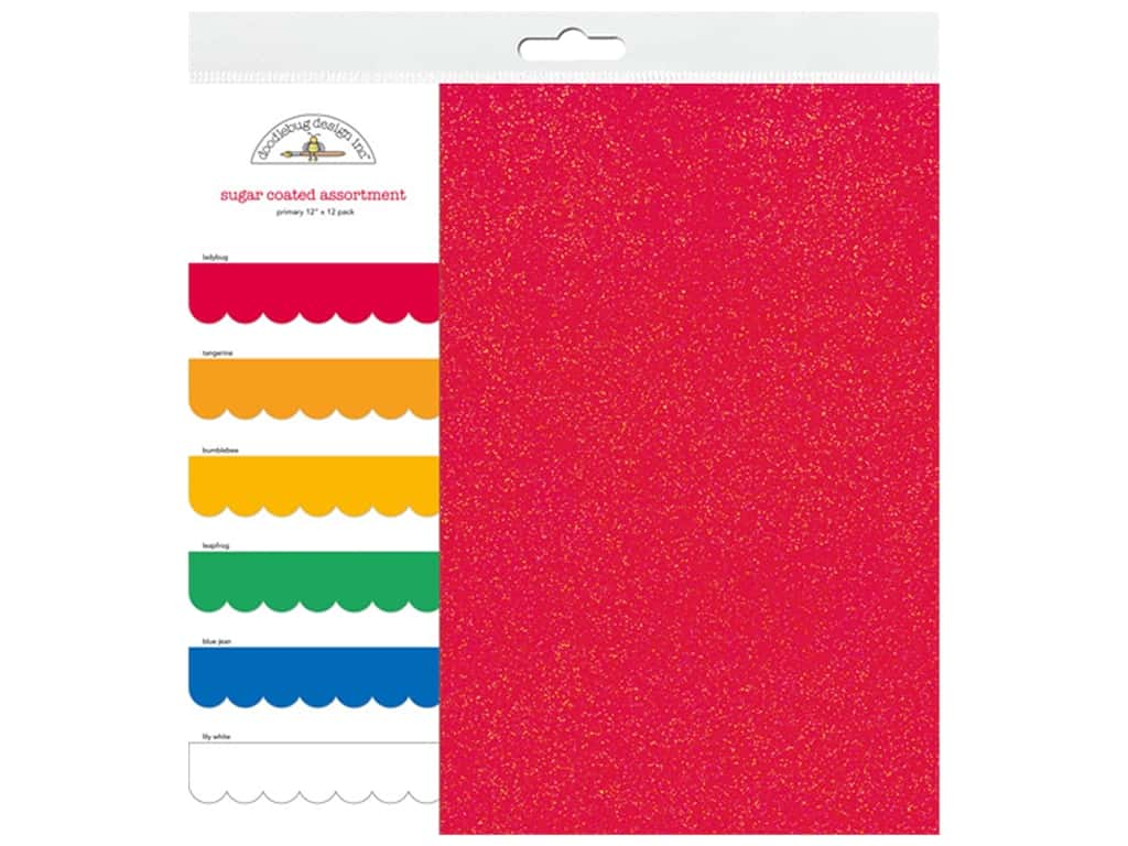 Doodlebug Paper Pack 12 in. x 12 in. Sugar Coated Primary 6 pc