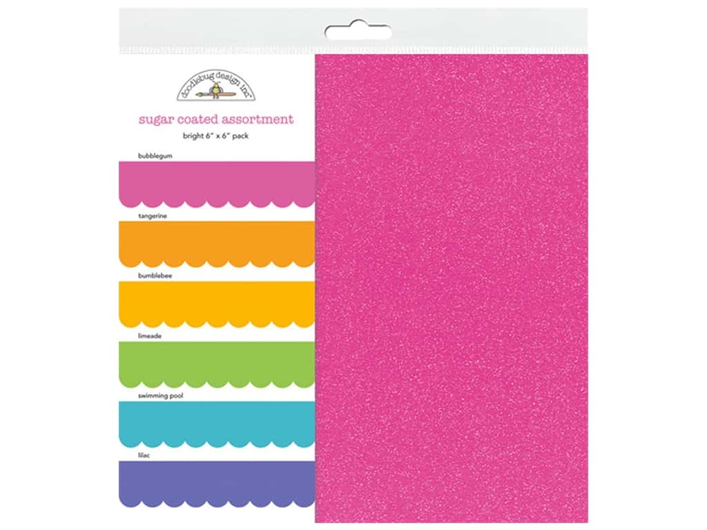 Doodlebug Paper Pack 6 in. x 6 in. Sugar Coated Bright 6 pc (3 sets)