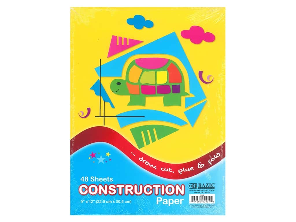 Bazic Basics Construction Paper Pad 9 in. x 12 in. 48 ct