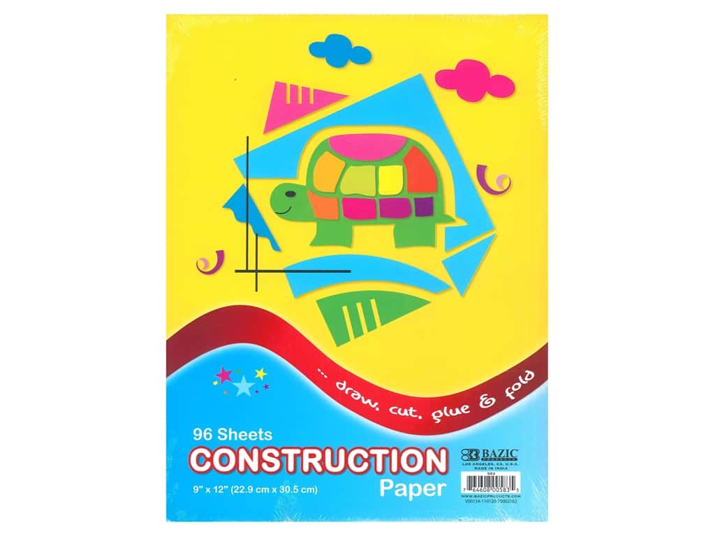 Bazic Basics Construction Paper Pad 9 in. x 12 in. 96 ct