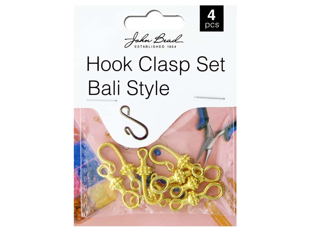 John Bead Findings Must Have Findings Bail Hook Clasp Set 25 mm Gold 4 pc