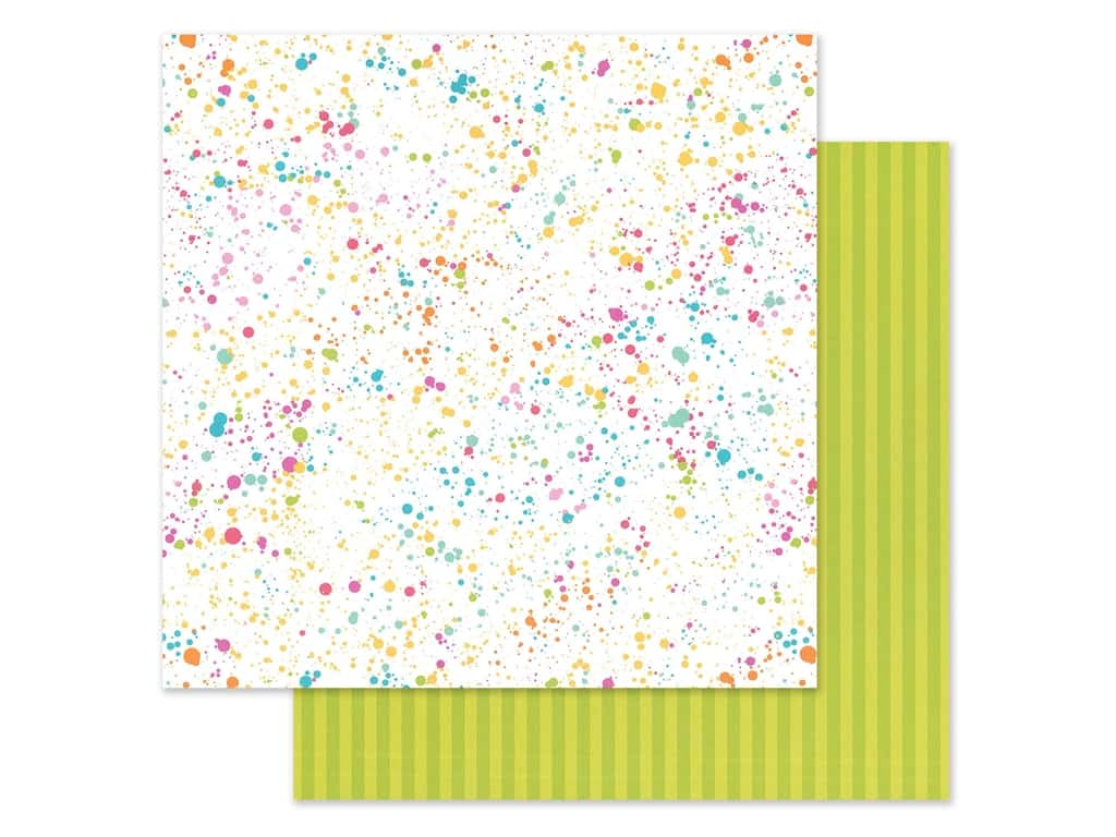 Doodlebug Collection Cute & Crafty Paper 12 in. x 12 in. Colorful Canvas (25 pieces)