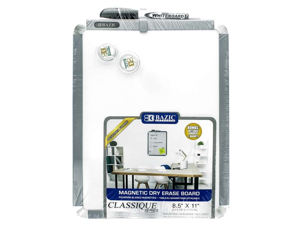 Bazic Basics Dry Erase Board With Marker 8.5 in. x 11 in.