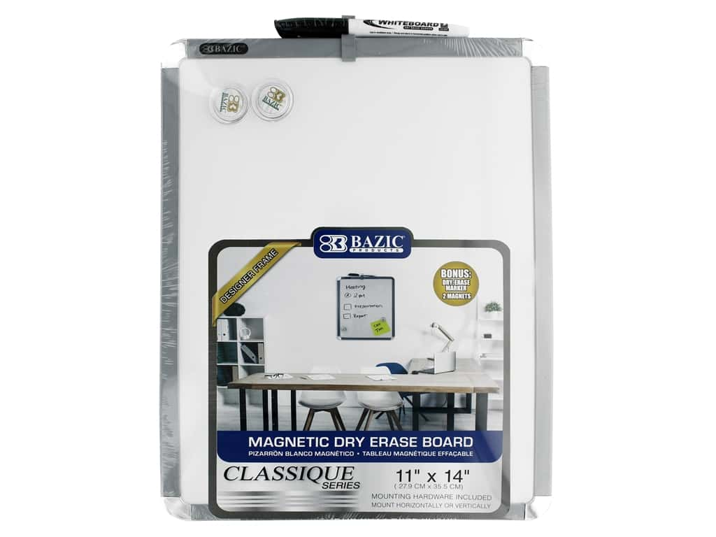 Bazic Basics Dry Erase Board With Marker 11 in. x 14 in.