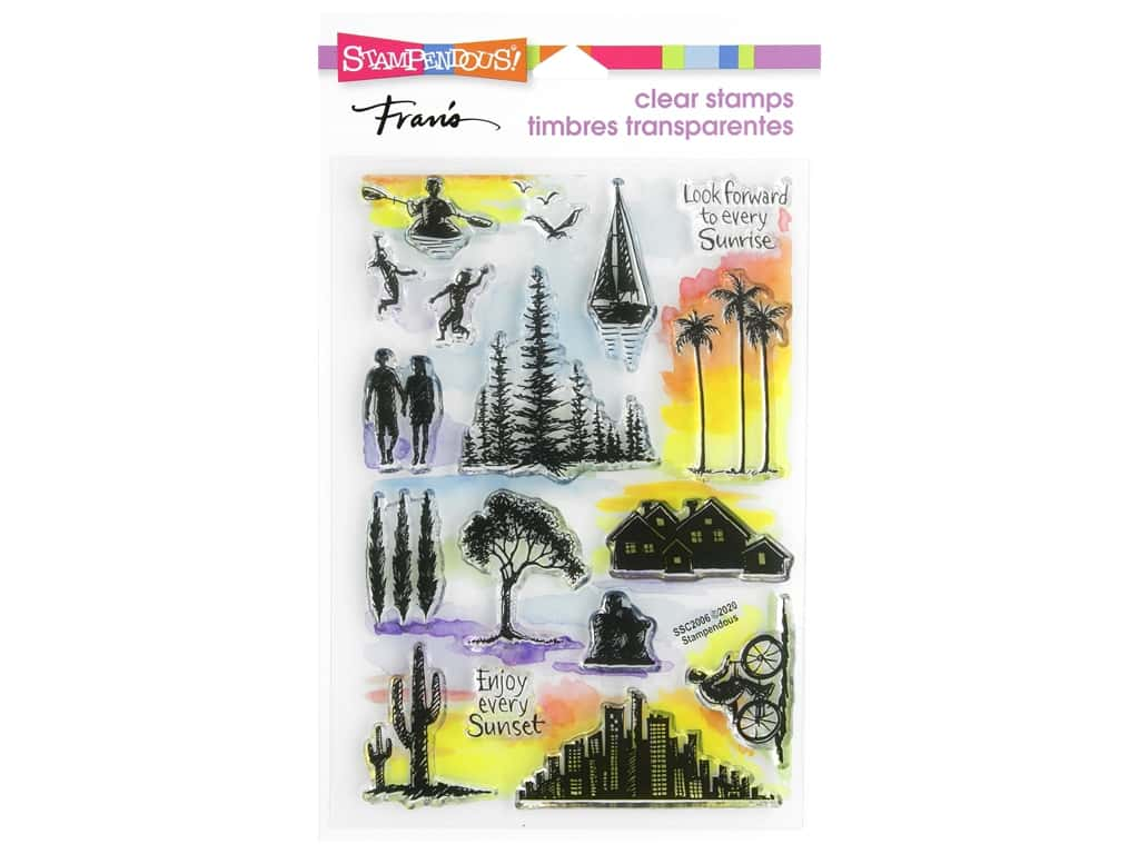 Stampendous Clear Stamp Sunrise Sunset
