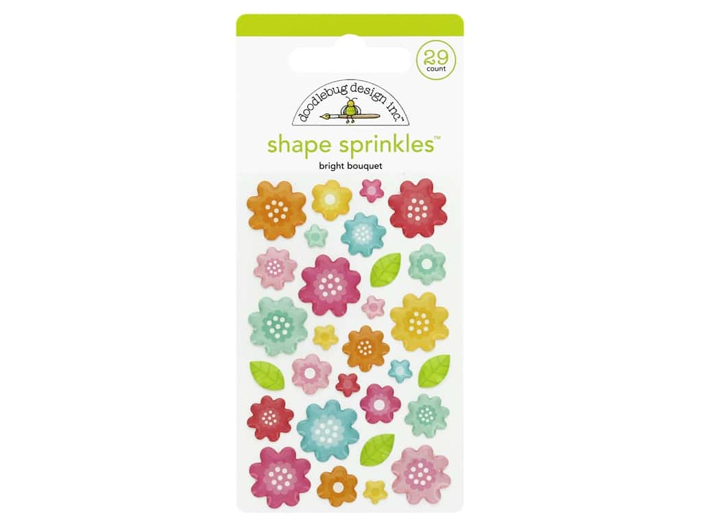 Doodlebug Collection Cute & Crafty Sprinkles Shapes Bright