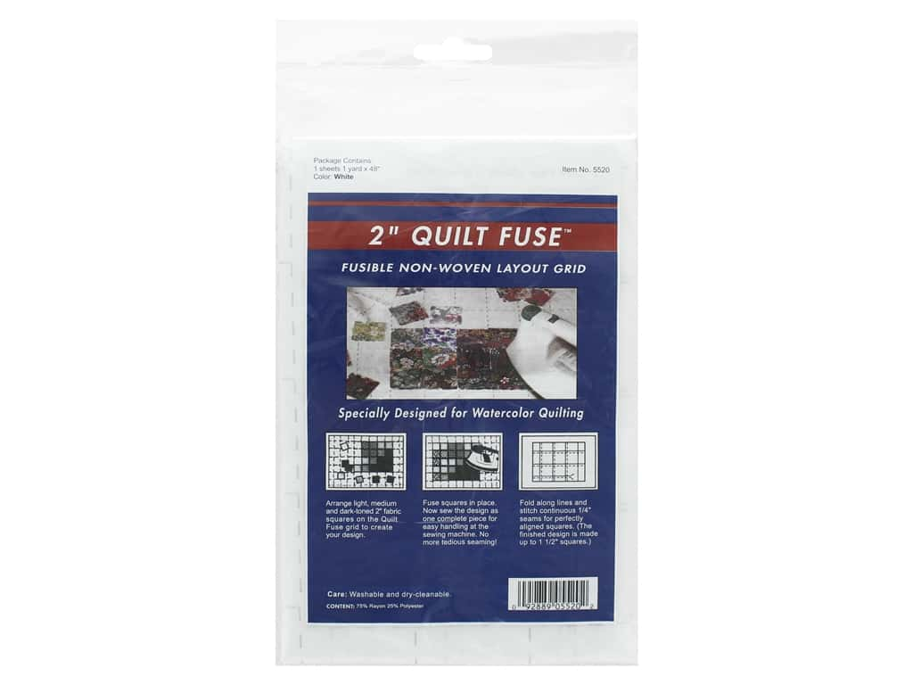 HTC Quilt Fuse 2 in. Grid Interfacing 48 in. x 1 yd. White (3 pieces)