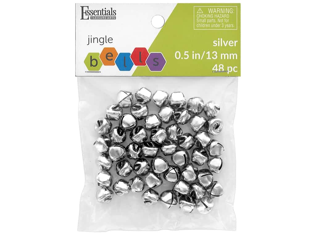 Essentials By Leisure Arts Bell Jingle 13 mm Silver 48 pc