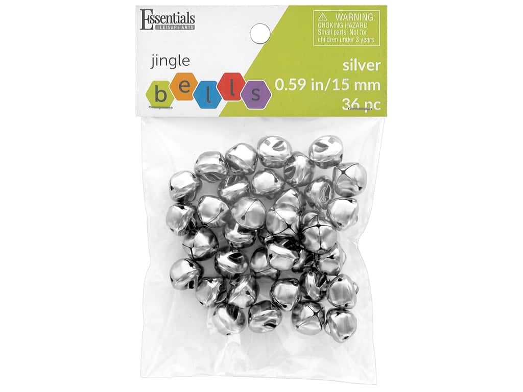 Essentials By Leisure Arts Bell Jingle 15 mm Silver 36 pc