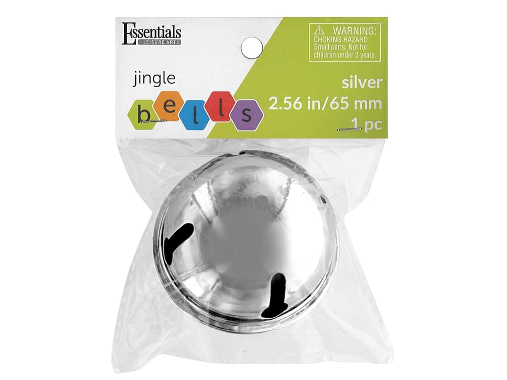 Essentials By Leisure Arts Bell Jingle 2.56 in. Silver 1 pc