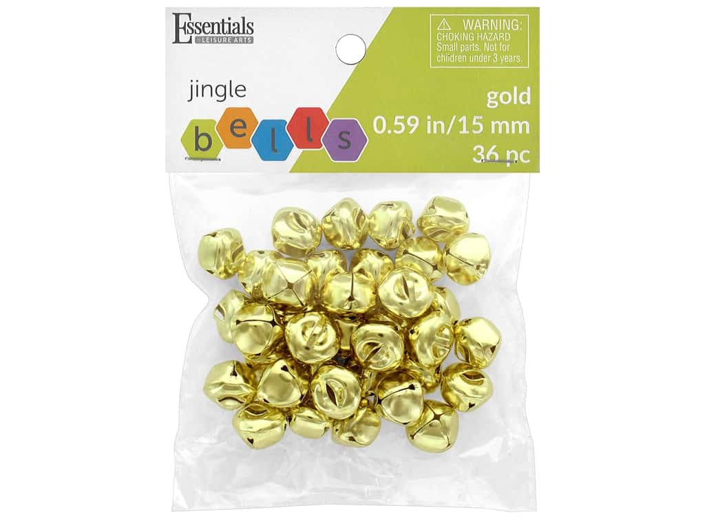 Essentials By Leisure Arts Bell Jingle 15 mm Gold 36 pc