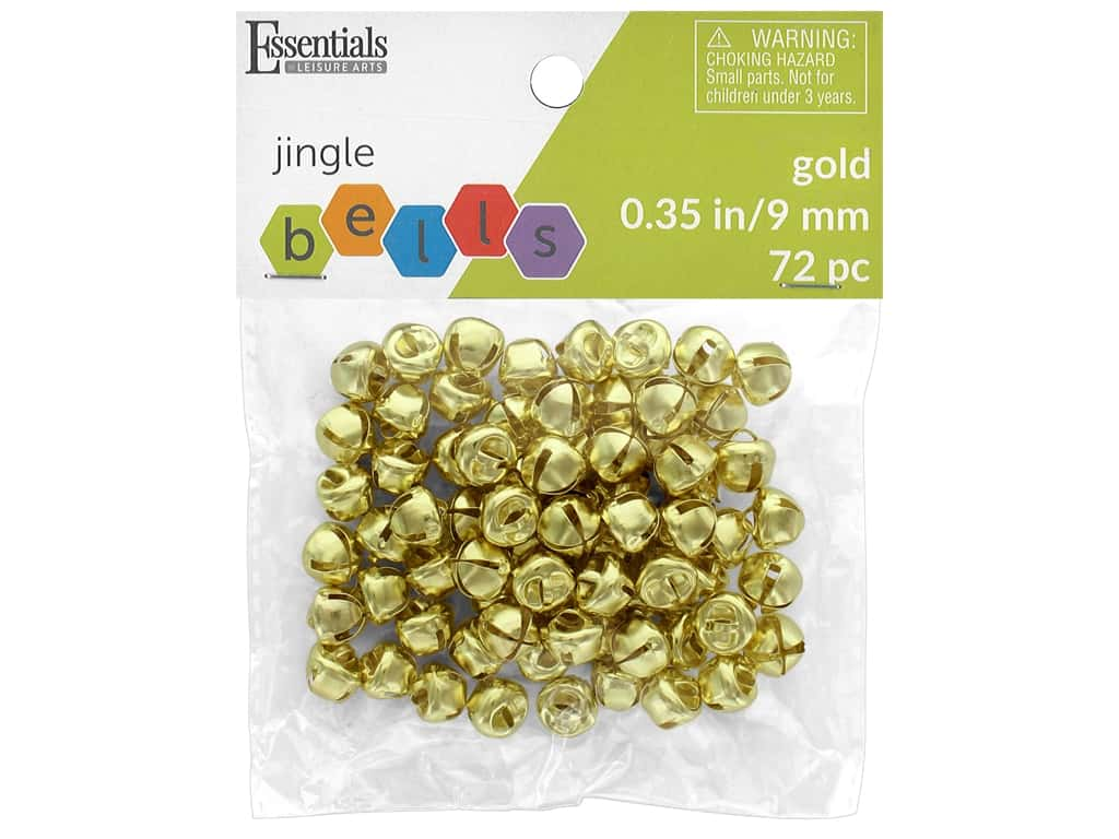 Essentials By Leisure Arts Bell Jingle 9mm Gold 72 pc