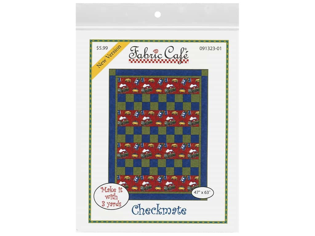 Fabric Cafe Checkmate 3 Yard Quilt Pattern