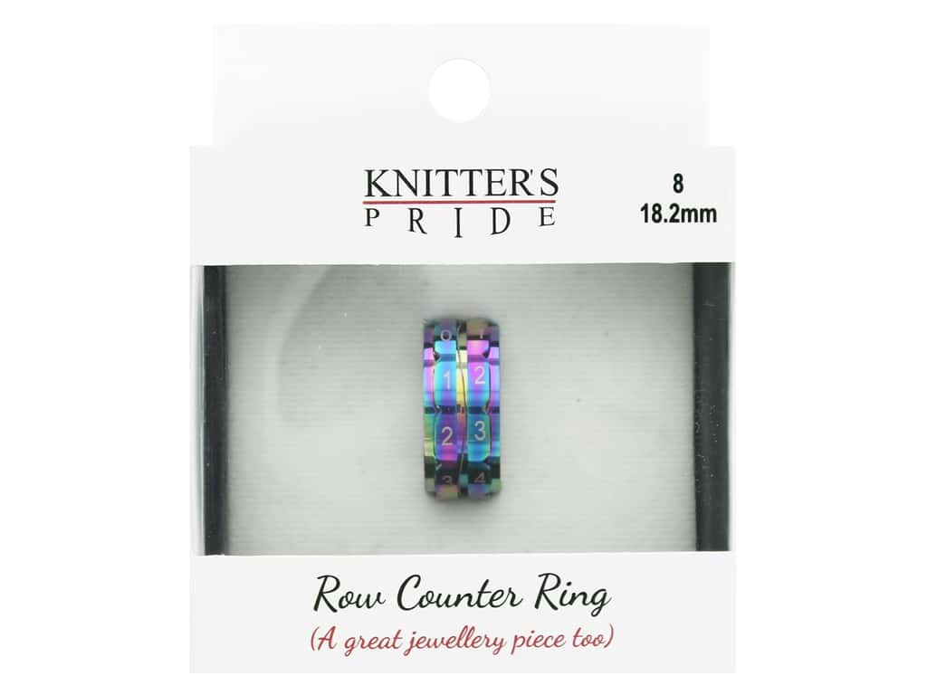 Knitter's Pride Accessories Rainbow Row Counter Ring Size 8