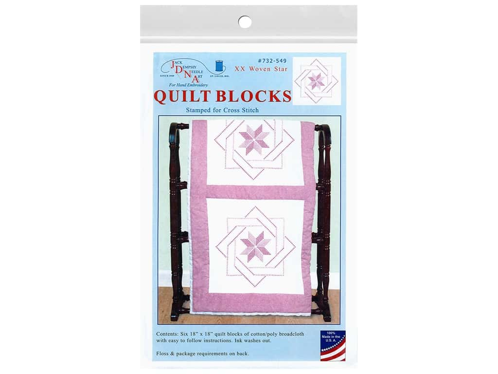 Jack Dempsey 18 in. Quilt Blocks - Woven Star