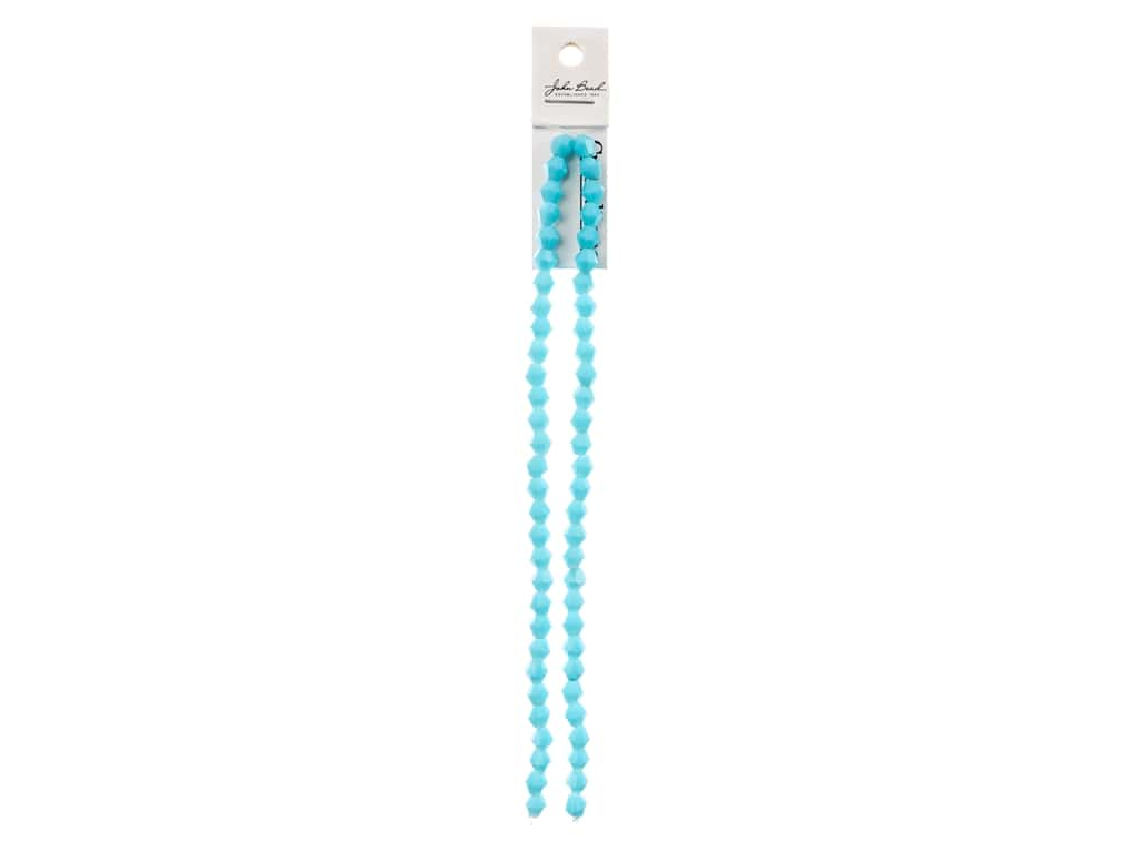 John Bead Crystal Lane Glass 6 mm Bicone Opaque Blue 7 in.