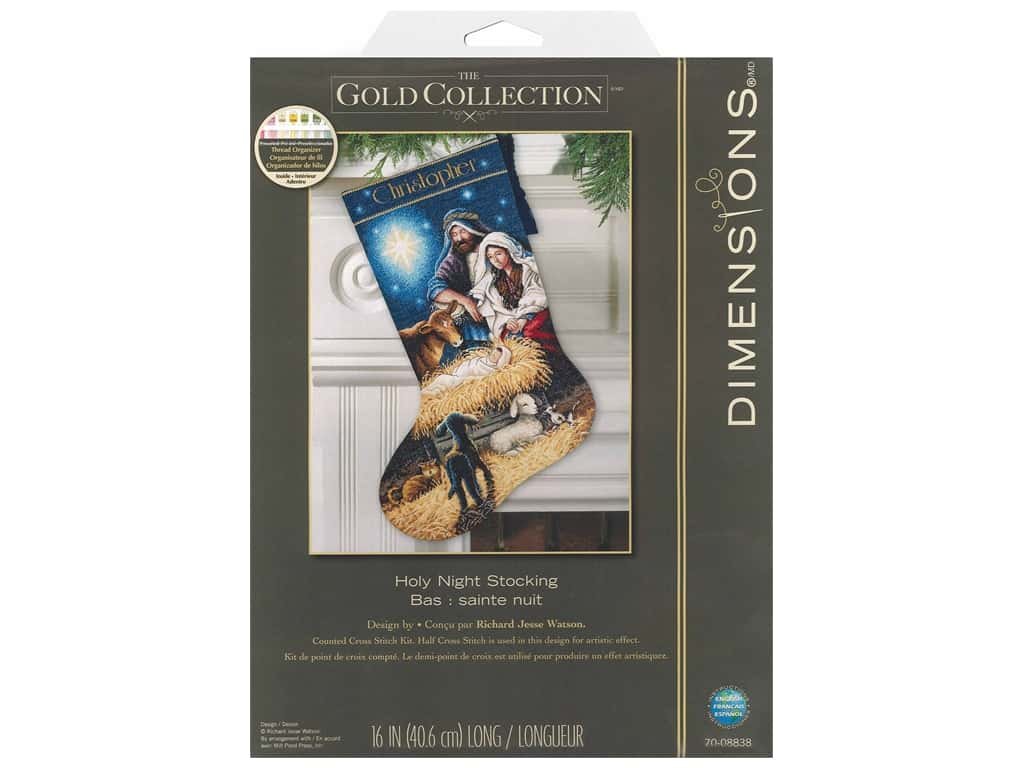 Dimensions Cross Stitch Kit 16 in. Stocking Holy Night