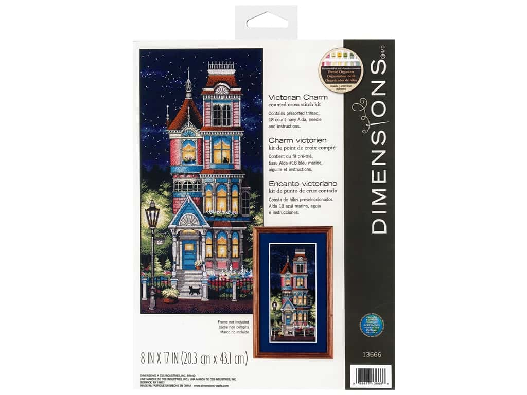 Dimensions Counted Cross Stitch Kit 8 x 17 in. Victorian Charm
