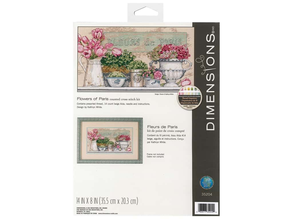 Dimensions Cross Stitch Kit 14 in. x 8 in. Flowers Of Paris
