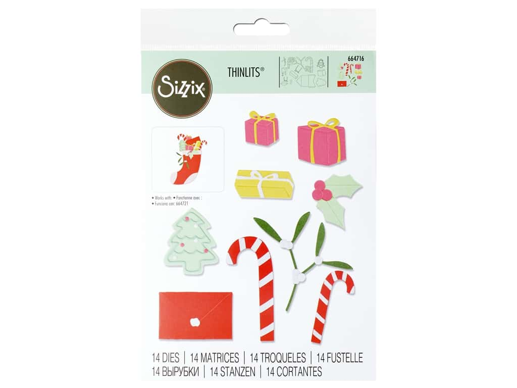 Sizzix Dies Thinlits Stocking Fillers