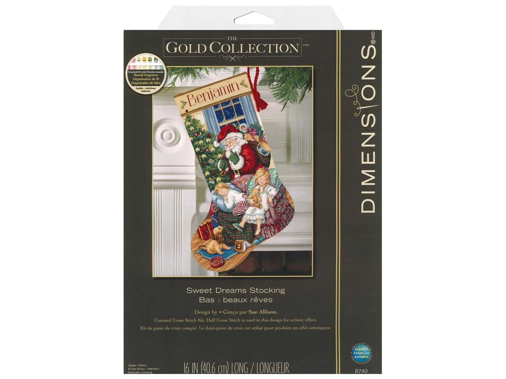 Dimensions Cross Stitch Kit 16 in. Stocking Sweet Dreams