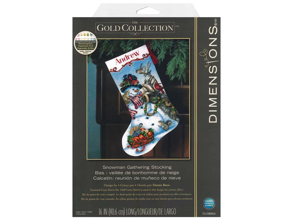Dimensions Cross Stitch Kit 16 in. Stocking Snowman Gathering