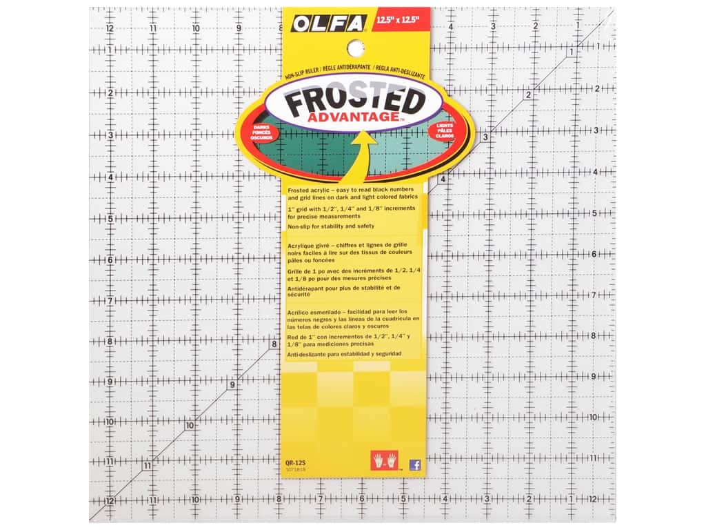 Olfa Frosted Acrylic Ruler 12 1/2 x 12 1/2 in. Square