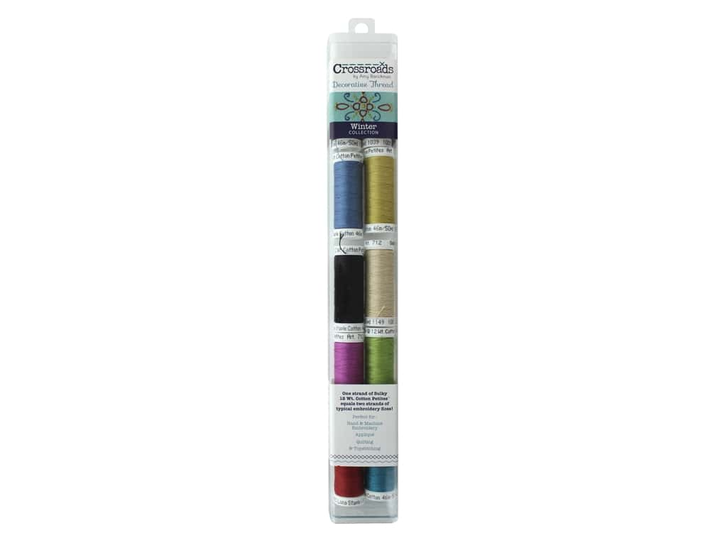 Sulky Cotton Thread Petites 12 wt Crossroads By Amy Barickman Winter Collection 10 pc