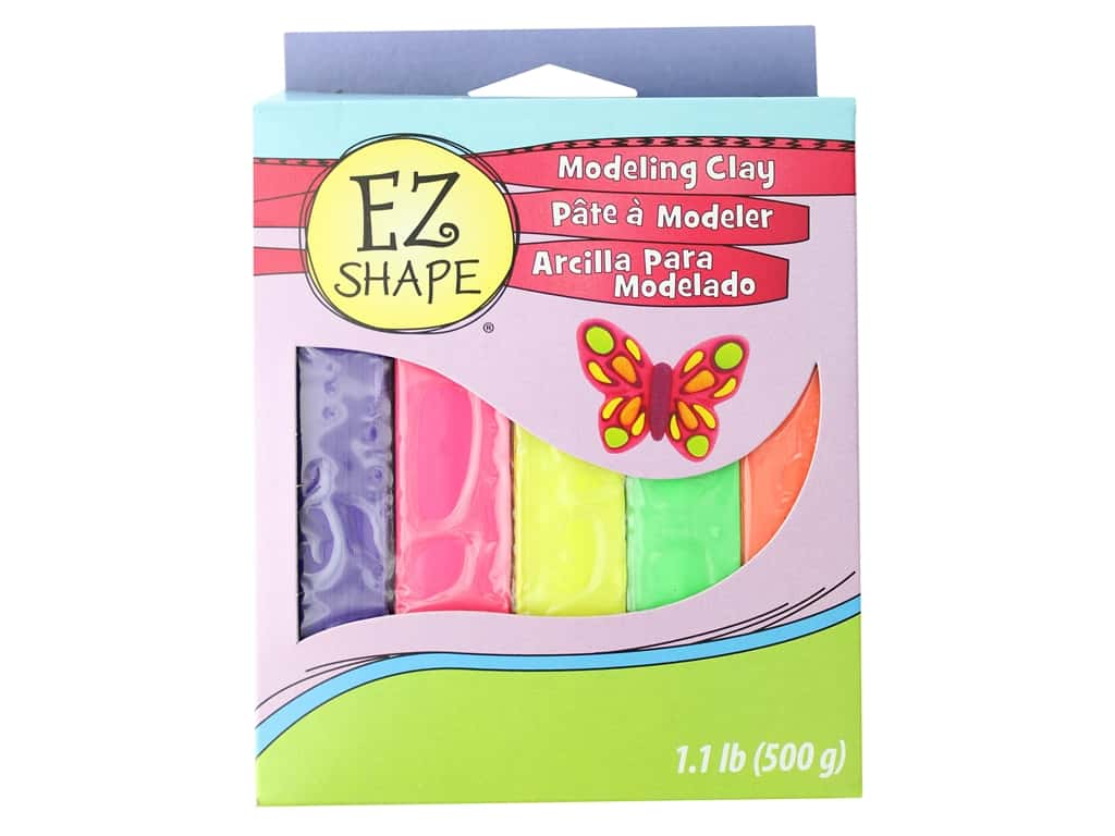 Sculpey EZ Shape Clay Polyform Modeling Non-Drying 5pc Bright