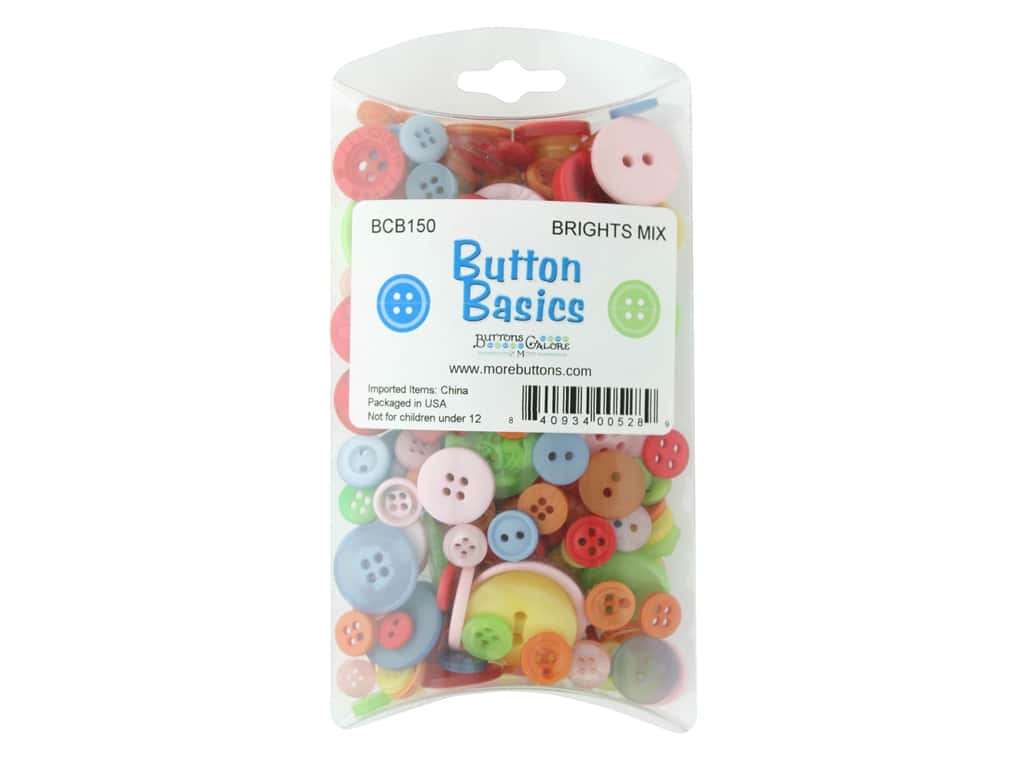 Buttons Galore Button Candy Bags 5.5 oz. Brights Mix