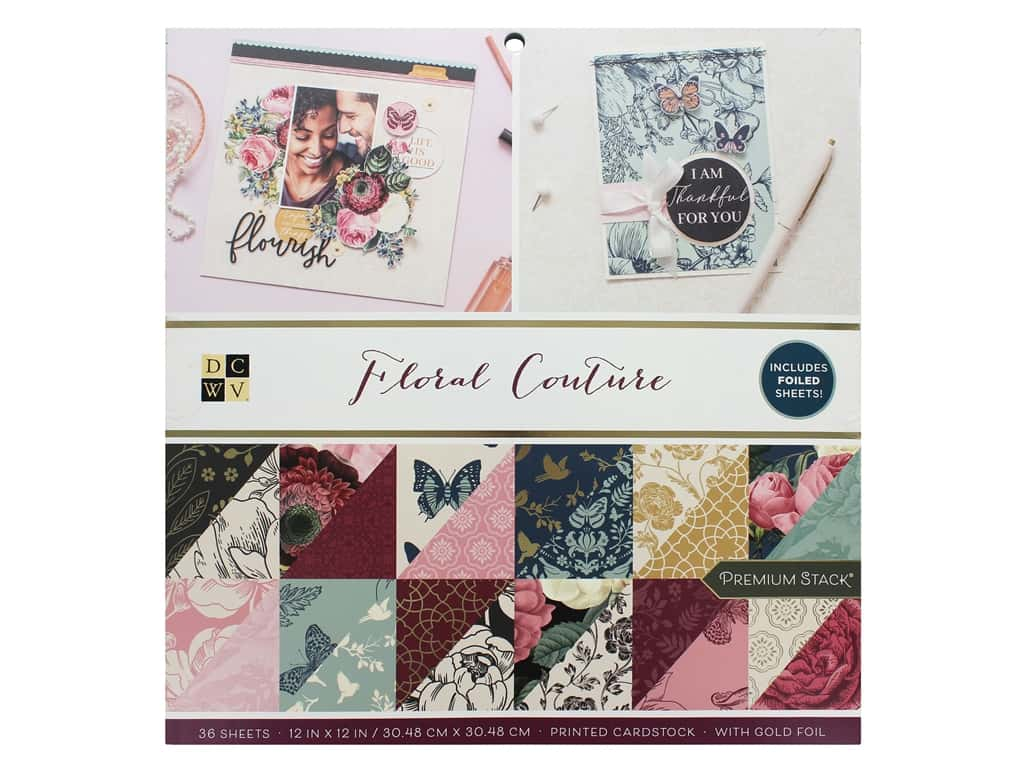 DieCuts With A View Stacks 12 in. x 12 in. Floral Couture