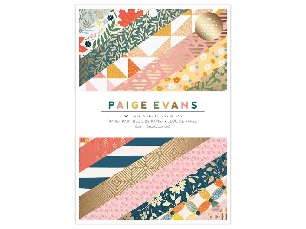 American Crafts Collection Paige Evans Bungalow Lane 8 in. x 6 in. Paper Pad Copper Foil 36 pc